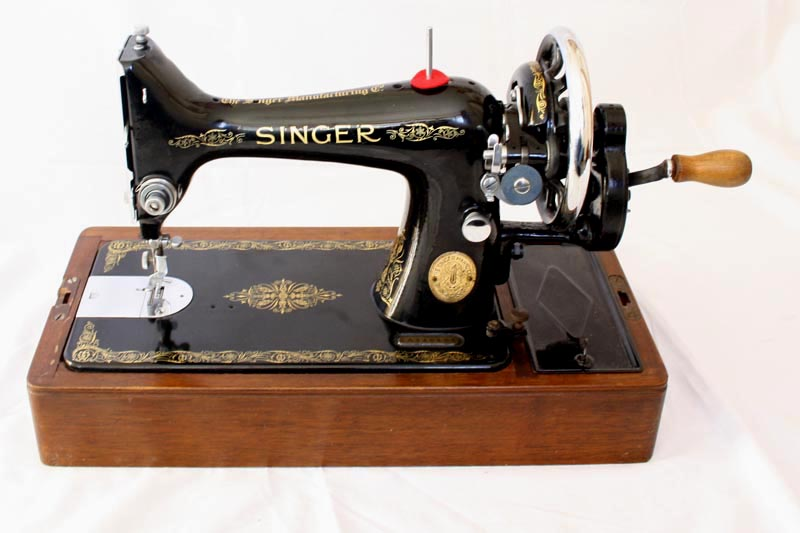 Singer 40K Hand Crank Sewing Machine For Sale With Reverse Feed Impressive Singer Hand Crank Sewing Machine